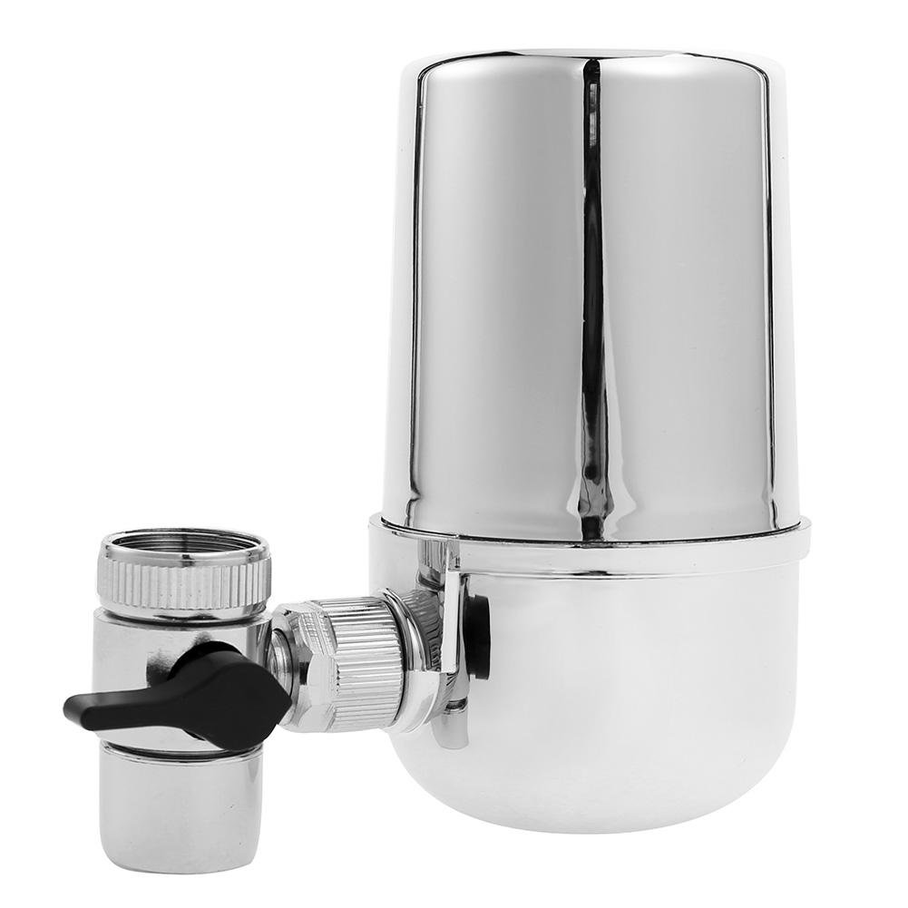 Whitelotous 360°Rotary Tap Water Filter Alkaline Contaminants Ionizer Purifier Faucet Purification for Kitchen Bathroom Sink