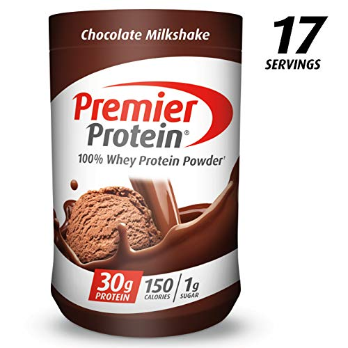 Premier Protein Whey Protein Powder, Chocolate, (17 Servings) (Best Chocolate Protein Shake Recipe)