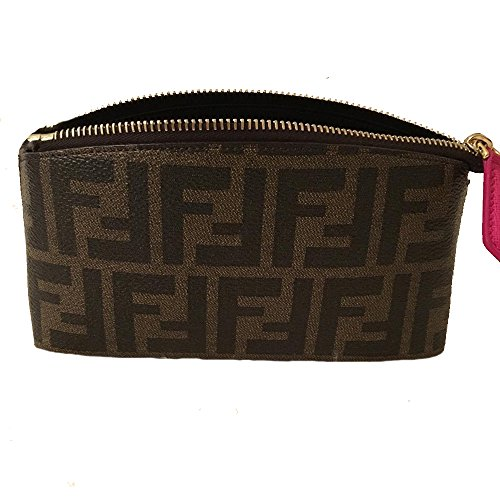 Fendi Women's FF Logo Zucca Beauty Case Cosmetic Bag 8N0114