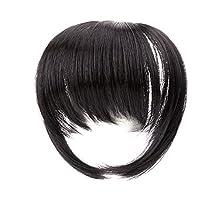 Ty.hermenlisa Clip in Hair Bang Synthetic Heat Resistant Fiber Fringe Hair Extensions Hairpieces,1 Pc,25g,Claudia -Dark Brown(#2)