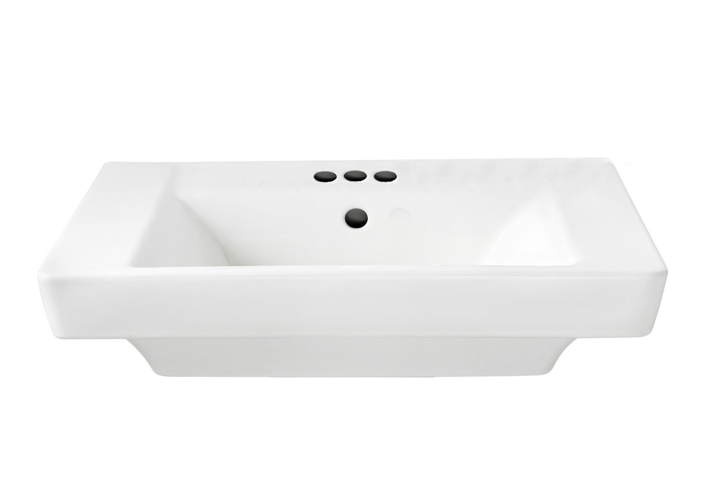 American Standard 0641.004.020 Boulevard 4-Inch Center Faucet Holes Pedestal Basin, White