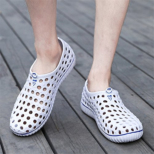 Men's for Comfort Breathable Sandals Black Outdoor Shoes Summer Gray White Shoes Khaki Hole White Spring Walking Shoes Shoes Beach Outdoor RwqRxSr