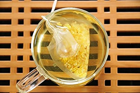 Lucklovely Empty Heat Sealing Nylon Tea Filter Bags with String for Loose Tea 2.632.76 100Pcs TB-003-2