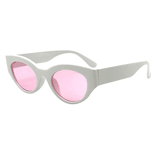 b6deaf23552fe Image Unavailable. Image not available for. Color  Limsea Hot Sale! Retro  Vintage Clout Goggles Unisex Sunglasses Rapper Oval Shades Grunge Glasses