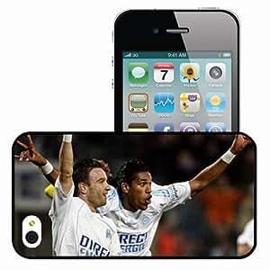 Personalized iPhone 4 4S Cell phone Case/Cover Skin Brandao(2009) Brazilian Football Confederation Brandao Marseille Football Black