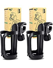 2 Pieces Stroller Drink Holders, Universal Cup and Water Bottle Holder, 360-degree