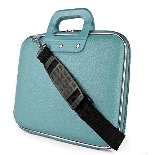 SumacLife Shoulder Messenger Bag Notebook Briefcase for ASUS X550ZA-WB11/Q550LF-BSI7T21/K501LX-EB71 15.6-Inch FHD Laptop (Blue)