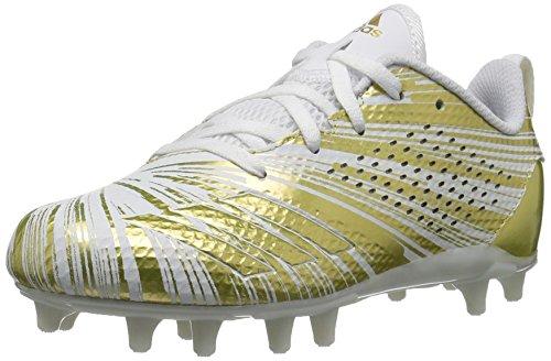 adidas Unisex Adizero 5-Star 7.0 Football Shoe, Gold Metallic/White, 6 M US Big Kid