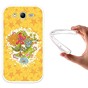 WoowCase - Funda Gel Flexible { Samsung Galaxy Grand Neo } Flores Frase - Happy Birthday To You Carcasa Case Silicona TPU Suave