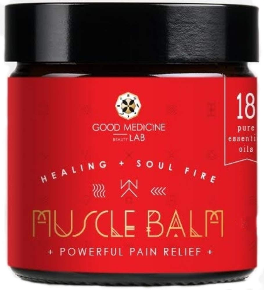 Muscle Balm Pain Relief Joint Relief Rub 4 Ounce by Good Medicine Beauty Lab by Good Medicine Beauty Lab