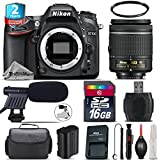 Holiday Saving Bundle for D7100 DSLR Camera + AF-P 18-55mm + 2yr Extended Warranty + 16GB Class 10 + Case + UV Filter + Cleaning Kit + Cleaning Brush + Card Reader - International Version