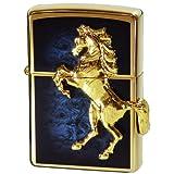 Zippo Winnie Winning Gold Plate Blue (Color: Gold)