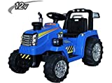 TRACTOR ELÉCTRICO CON R/C 12V S/H SPEED NEW HOLLAND STYLE