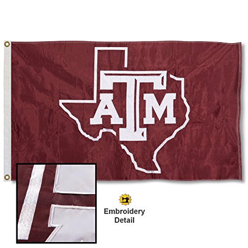 Texas A&M Aggies Embroidered and Stitched Nylon Flag