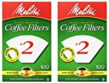 melitta cone 2 - Melitta USA INC 622712 Cone Coffee Filters 100 Count - No. 2 - 2 Pack