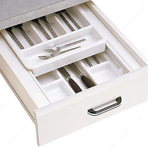 Double-Tiered Cutlery Tray, Width Min. 15 1/4 in, Depth Min. 17 1/4 in, Width 15 1/4 to 17 3/4 in, Depth 17 1/4 (Double Cutlery Tray)