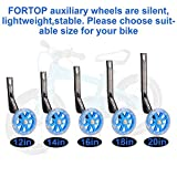 FORTOP Bicycle Training Wheels Heavy Duty Rear with