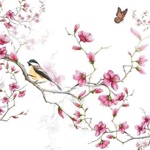 4x Paper Napkins for Decoupage Decopatch Craft Flower Symphony