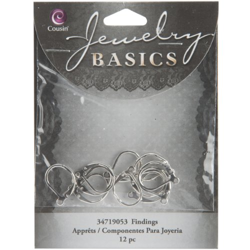 Cousin Jewelry Basics Euro Lever Earring, Silver, 12-Piece