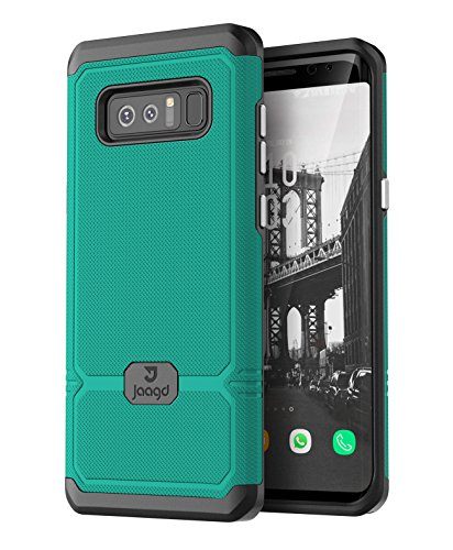 Jaagd Galaxy Note 8 Case, Slim Shock-absorbing Modern Slim Non-slip Grip Cell Phone Cases for Samsung Galaxy Note 8 (Green)