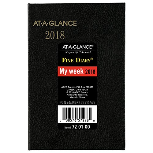 Calendar Diary (At-A-Glance 720100-18 Weekly / Monthly Pocket Diary, Fine Diary, January 2018 - December 2018, 2-3/4