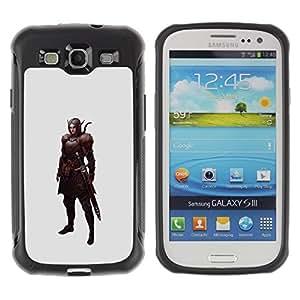 Suave Caso Carcasa de Caucho Funda para Samsung Galaxy S3 I9300 swordsman pc game elf warrior mystical / JUSTGO PHONE PROTECTOR