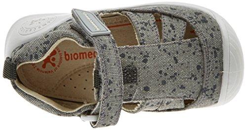 Biomecanics Baby Jungen 182126 Niedrige Hausschuhe Grau (Grau/graue Punkte (Segeltuch/bedruckt)