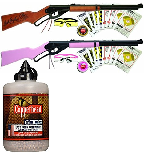 (Bundle Includes 3 Items - Daisy Outdoor Products Pink Fun Kit (Pink/Black, 35.4 Inch) and 1107803 Daisy Red Ryder Shooting Fun Starter Kit 35.4