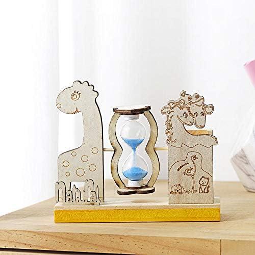 Kreative Karikatur Sanduhr Stifthalter Holz Desktop Dekoration Studenten Urlaub Geburtstagsgeschenke Kinder Geschenke-Giraffe