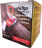installing carpet on stairs  (10 Pack) Strong Translucent/Clear Abrasive Treads - High Traction Grip for Stairs, Steps, Boats, Garage, Ladders | Slip-Resistant Grit | Pre-Cut Peel and Stick Treads | 4 Inch by 24 Inch