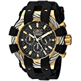 Invicta Men's Bolt Stainless Steel Quartz Watch with Silicone Strap, Black, 32 (Model: 23860)