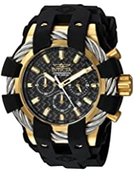 Invicta Mens Bolt Quartz Stainless Steel and Silicone Casual Watch, Color:Black (Model: 23860)