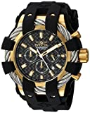 Invicta Men's 'Bolt' Quartz Stainless Steel and Silicone Casual Watch, Color:Black (Model: 23860)