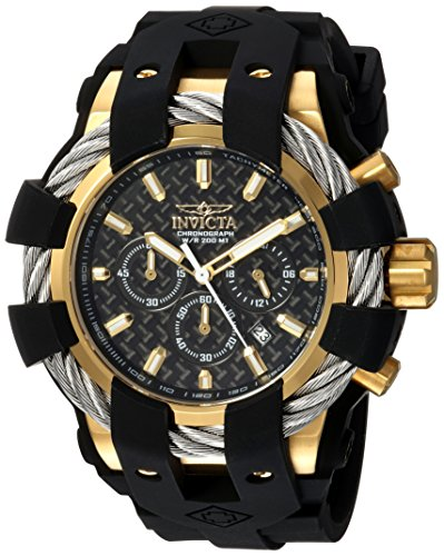 Invicta Men's Bolt Stainless Steel Quartz Watch with Silicone Strap, Black, 32 (Model: 23860) (Invicta Mens Watches Bolt)