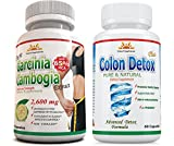 65% HCA 2600 mg ORIGINAL AS SEEN on TV, 1 Extra Strength Garcinia Cambogia Pure Extract, 1 Colon Detox, Potent, Appetite Suppressant, Natural, Fat Burner, 45 Days Return, SAME Day Shipping