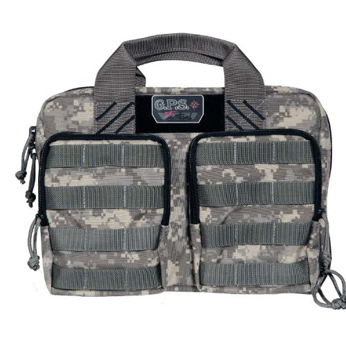 (G.P.S. G Outdoors GPS-T1309PCDC Tactical Quad + 2 Pistol Range Bag)