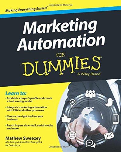 Marketing Automation Dummies Mathew Sweezey product image