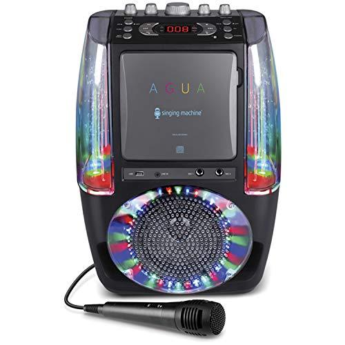 Singing Machine SML605 Karaoke System with LED Disco Lights - Black (No Dancing Water) from Singing Machine