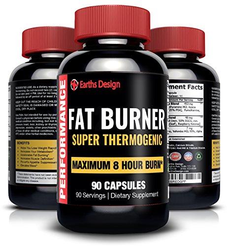 Thermogénique brûleur de graisse, perte de poids pilules pour femmes et hommes, perdre du poids rapidement, perd du ventre gras, coupe-faim, contient le thé vert, extrait de framboises cétones, Yohimbe, L-Tyrosine, stimule le métabolisme, brûler la graiss