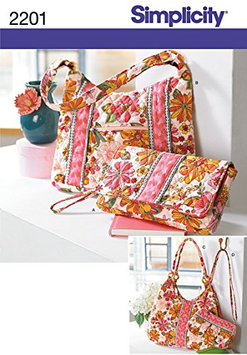 Simplicity Crafts Accessories-One Size (Bag Quilted Patterns)