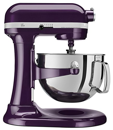 KitchenAid KP26M1QPB Professional 600 Series 6-Quart Stand Mixer, Purple Plum Berry (Stand Mixer Purple)