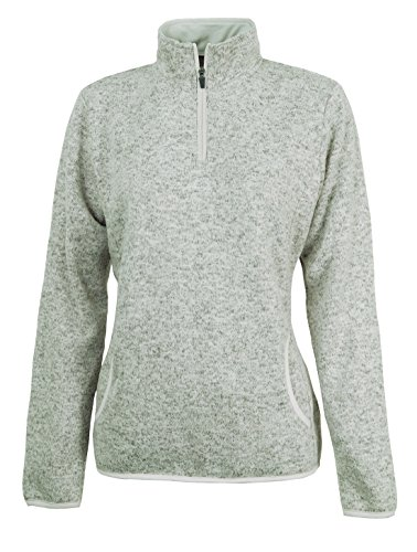 Women's Heathered Fleece Pullover Jacket from Charles River Apparel