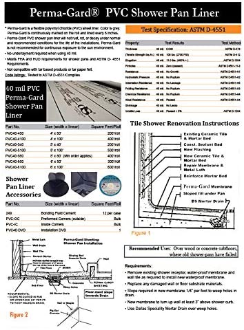 Shower Pan Liner 40 Mil Pvc Grey 6 X 12 Amazon Com