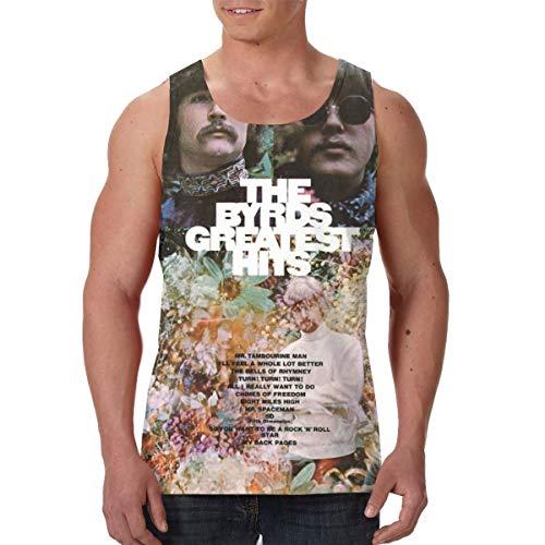 HuiXieJian The Byrds Greatest Hits Men's Gym Sleeveless Tank Top Shirts M Black