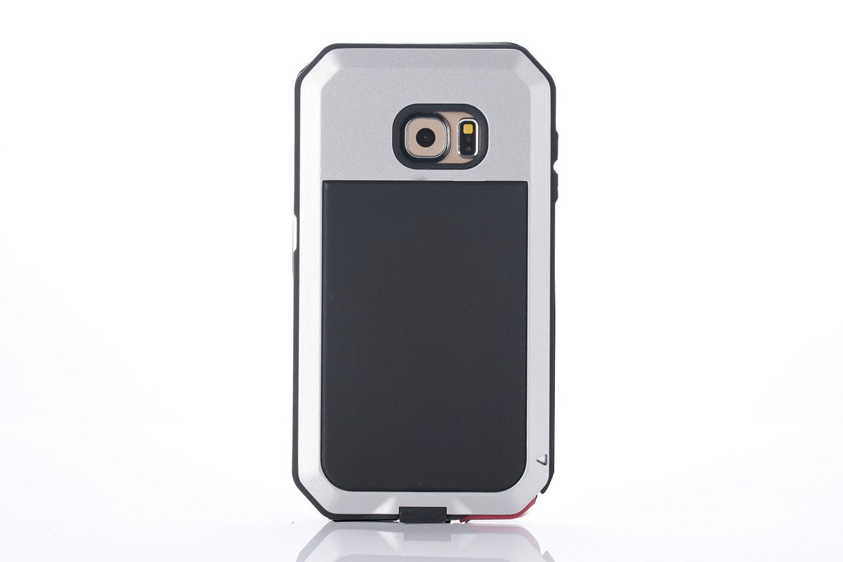 Galaxy S6 Case Amever Aluminum Metal With Silicone Lifeproof Samsung Fre 77 51242 Black Water Resistant Shockproof Bumper Heavy Duty Tempered Glass Dual Layer