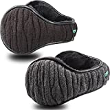 Dimples Excel Unisex Knit Ear Muffs Foldable Ear Warmers Winter Outdoor Earmuffs Size Adjustable (2 pack)