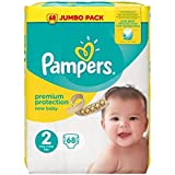Pampers New Baby Taglia 2 Mini, 3 – 6 kg Jumbo pack 68 strati