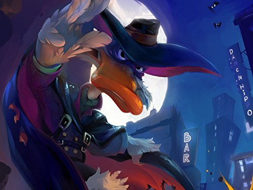 Awesome Art (Darkwing Duck Superhero Dark Cool Awesome Art 24x18 Print Poster)
