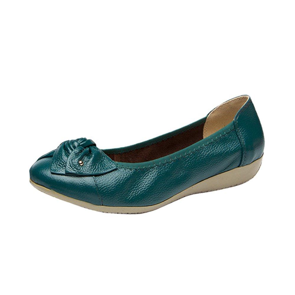 OCHENTA B06X3QW8MV Femme Ballerines Mocassins Confortable Chaussures de Travail OCHENTA Mocassins Femme Semelle Epaisse Bleu Paon 6928036 - reprogrammed.space