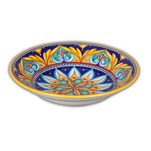 Hand Painted Italian Ceramic Geometric Soup / Pasta Bowl D - Handmade in Deruta
